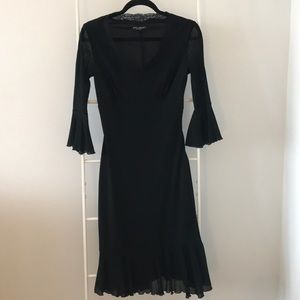 Betsy Johnson Flirty black cocktail dress